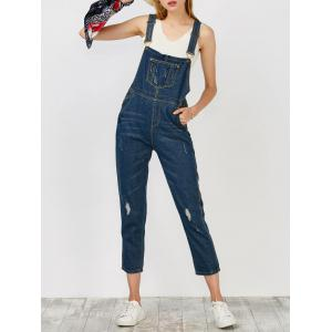 Denim Ripped Overalls - Cerulean - M