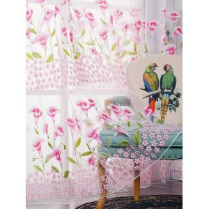 Transparent Calla Lily Window Curtain -