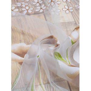 Transparent Calla Lily Window Curtain - KHAKI W40INCH*L79INCH