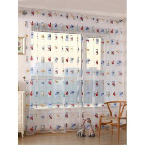Transparent Car Print Window Curtain - Transparent - W40inch*l79inch