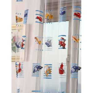 Transparent Car Print Window Curtain - Transparent W40inch*L79inch