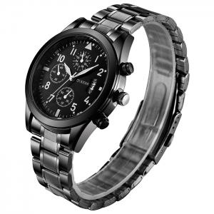 OUKESHI Number Date Wrist Quartz Watch - Black