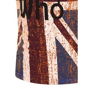 Graphic Distressed England Flag Print T-Shirt -