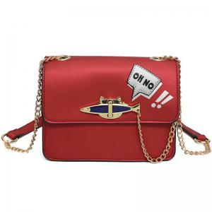 Oh No Chains Cross Body Bag - Red - Horizontal