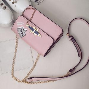 Oh No Chains Cross Body Bag - PINK