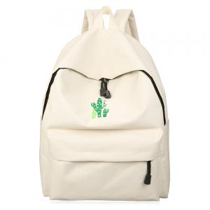 Cactus Embroidered Candy Color Backpack