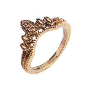 Flower Leaf Teardrop Finger Gypsy Ring Set - GOLDEN