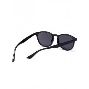 Mirrored Anti UV Street Snap Sunglasses - BLACK FRAME + BLACK LENS