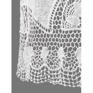 See Through Lace Crochet Top Cover Up -