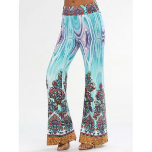 Arab Print Flowy Wide Leg Palazzo Pants - Colormix - 2xl
