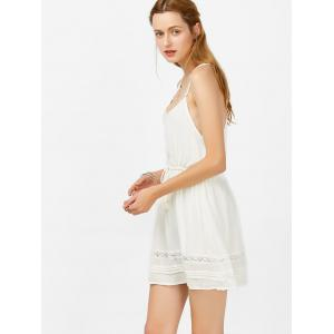 Tasseled Drawstring Slip Casual Summer Dress -