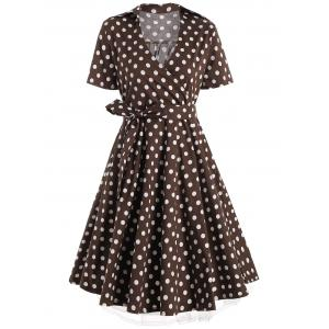 A Line Polka Dot Plus Size Robe