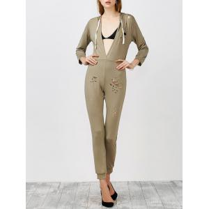 Hooded Cut Out Jumpsuit