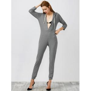 Hooded High Waist Jumpsuit -