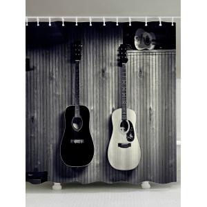 Vintage Guitar Print Waterproof Shower Curtain
