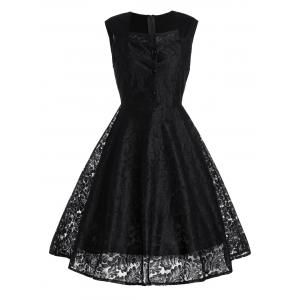 Short Lace Skater Formal Swing Cocktail Dress