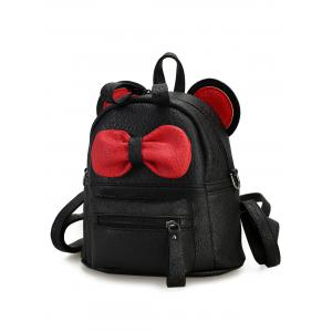 Bowknot Ear Faux Leather Backpack -
