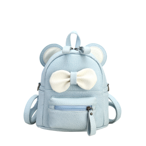 Bowknot Ear Faux Leather Backpack