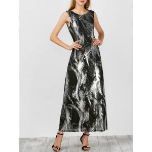 Maxi Abstract Tie Dye Dress