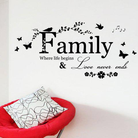 Best Family Butterfly Quote Wall Stickers For Living Room - BLACK  Mobile