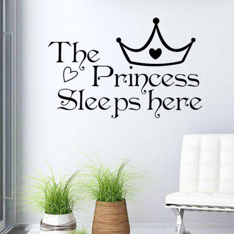 Princess Letters Wall Stickers For Bedrooms - Black - L