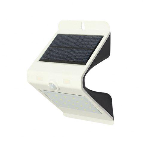 Unique LED Motion Sensor Solar Powered Waterproof Wall Lamp - WHITE  Mobile