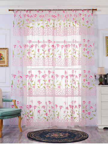 Fashion Transparent Calla Lily Window Curtain