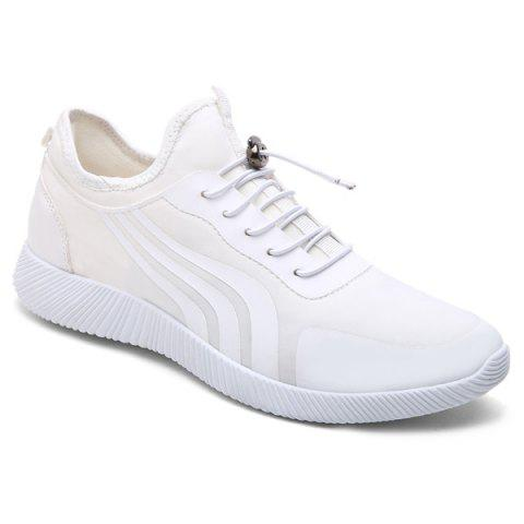 Best String Stretch Fabric Athletic Shoes WHITE 40