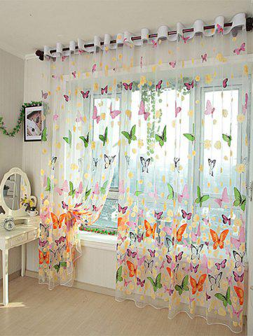 Shop Flower Butterfly Transparent Window Curtain - W40INCH*L79INCH FLORAL Mobile