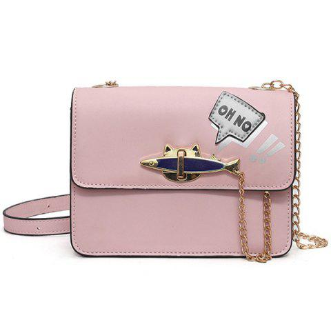 Hot Oh No Chains Cross Body Bag PINK