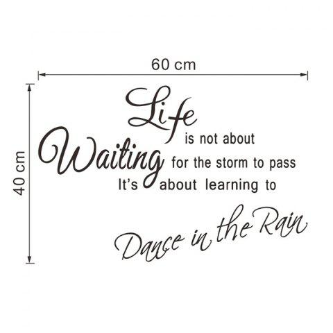 Hot Life Proverb Wall Stickers For Bedrooms - BLACK  Mobile