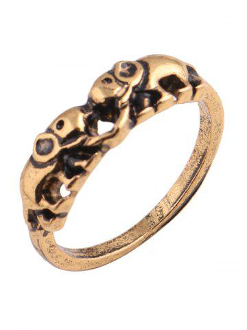 Outfits Moon Sun Floral Elephant Ring Set - GOLDEN  Mobile