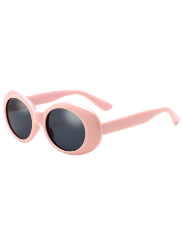 Sale Anti UV Oval Retro Wrap Frame Sunglasses PINK