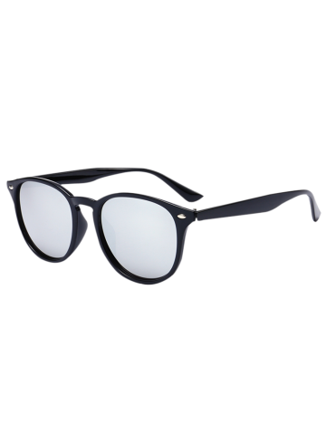 Street Snap UV Protection Mirrored Sunglasses - Black+mercury