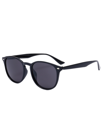 Best Mirrored Anti UV Street Snap Sunglasses BLACK FRAME + BLACK LENS