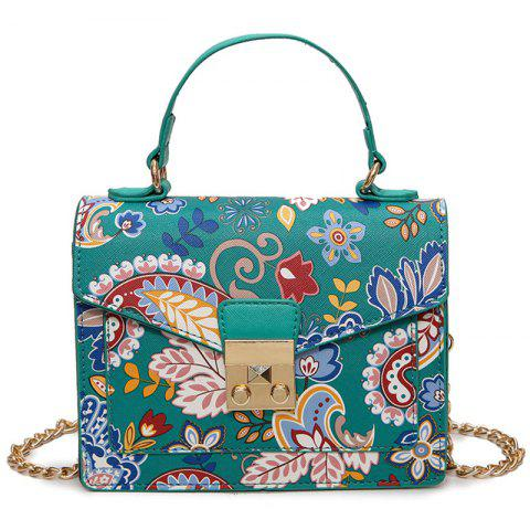 Hot Metal Detail Print Handbag