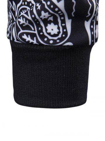 Store Long Sleeve Paisley Floral Graphic Vintage Sweatshirts - M BLACK Mobile