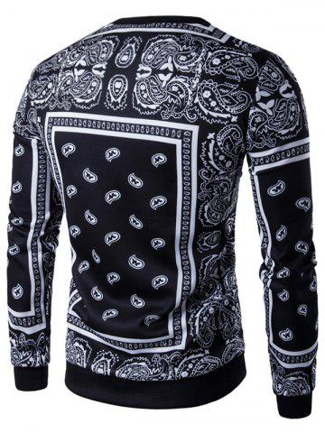 Outfits Long Sleeve Paisley Floral Graphic Vintage Sweatshirts - XL BLACK Mobile