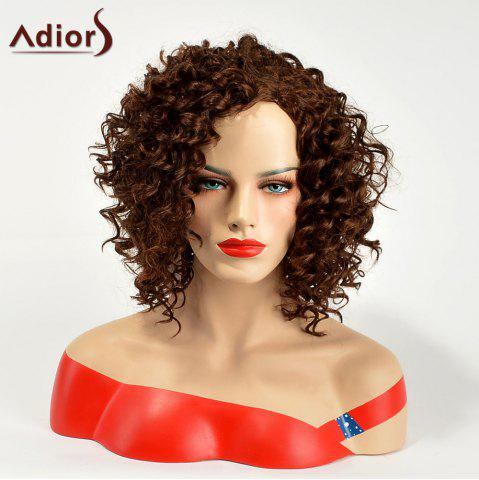 Adiors Fluffy Medium Curly Synthetic Wig - Brown