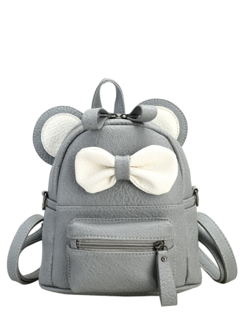 Cheap Bowknot Ear Faux Leather Backpack