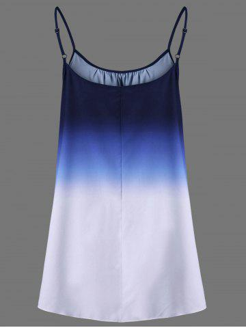 Latest Ombre Plus Size Cami Top - 2XL BLUE Mobile