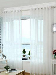 Beads Pendant Transparent Voile Fabric Window Curtain