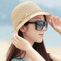 Bowknot Rope Folding 20s Straw Hat