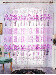 Voile Fabric Maple Leaf Transparent Window Curtain