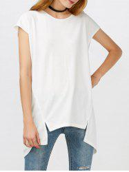High Low Back Slit Tee