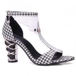 T Strap PU Leather Sandals -