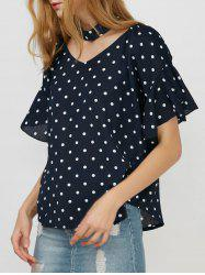 Polka Dot Off The Shoulder Top