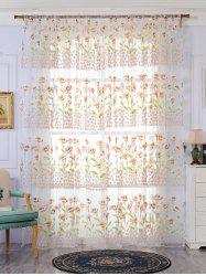 Transparent Calla Lily Window Curtain