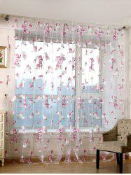 Cartoon Bear Sheer Window Curtain