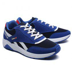 Color Block Suede Breathable Athletic Shoes